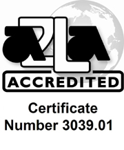 A2LA ACCREDITED Certificate Number 3039.01